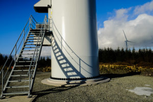 Steps up to Wind Turbine in West Cork