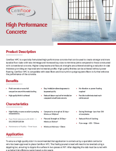 CemFloor High Performance Concrete Brochure