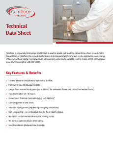 CemFloor THERM Tech Data Sheet