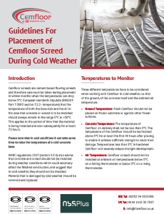 Cold Weather Screed Placement Guidelines