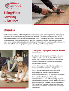 Tiling Floor Covering Guidelines